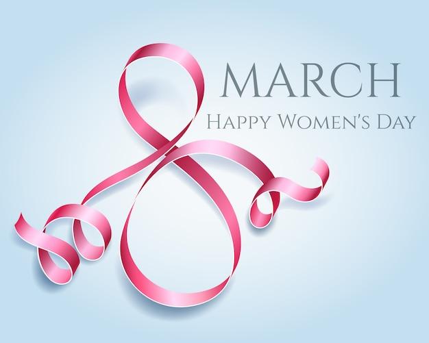 Cartão de dia das mulheres