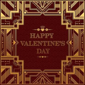 Cartão de dia dos namorados com amor do coração e estilo de arte e artesanato em papel rosa