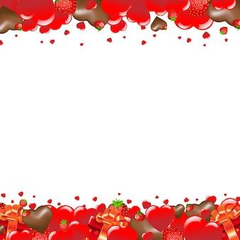 Cartão de dia dos namorados com coração e ilustração gradiente de malha