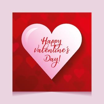 Cartão de dia dos namorados com coração