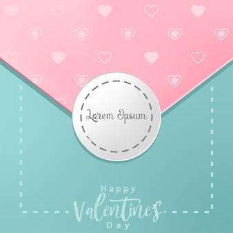 Cartão de dia dos namorados com corações e lugar para o seu texto