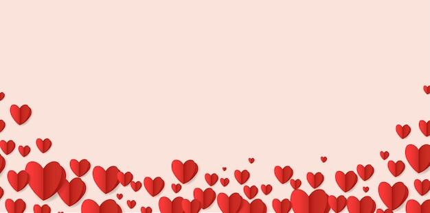 Cartão de dia dos namorados com corações vermelhos