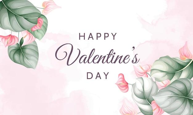 Cartão de dia dos namorados com lindos florais
