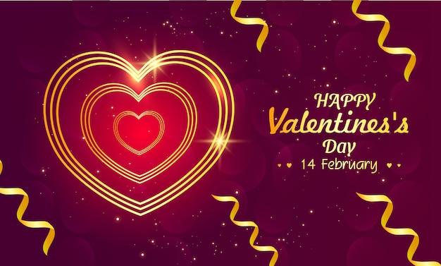 Cartão de dia dos namorados com linha de coração