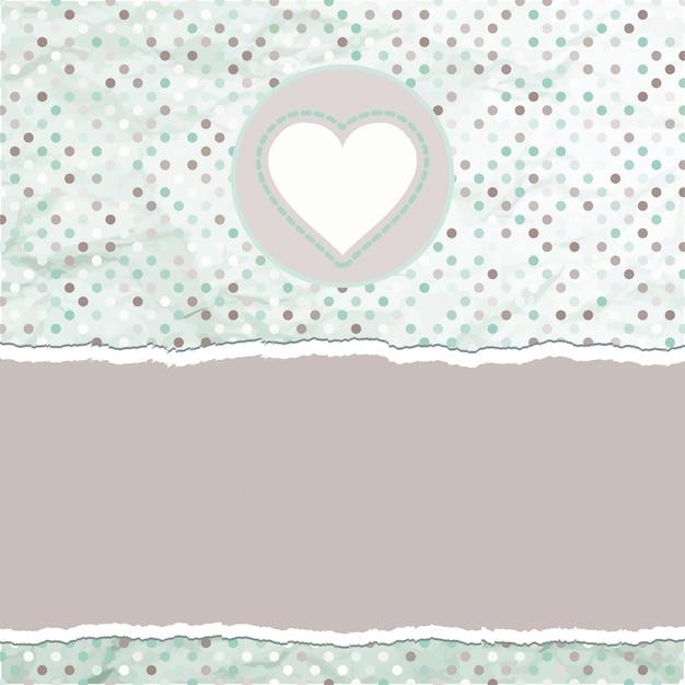 Cartão de dia dos namorados com o coração.