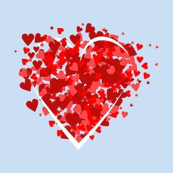 Cartão de dia dos namorados. gráficos vetoriais eps10