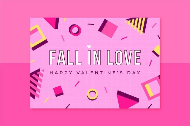 Cartão de dia dos namorados infantil de memphis