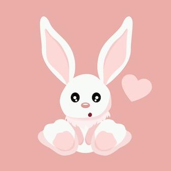 Cartão de dia dos namorados lindo coelho bebê