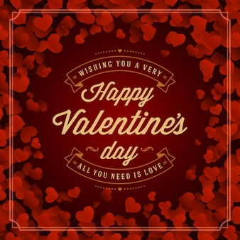 Cartão de dia dos namorados ou ilustração vetorial de cartaz.