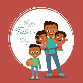 Cartão de dia dos pais feliz saudação ilustração vetorial