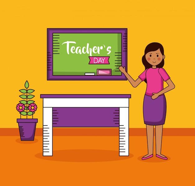Cartão de dia dos professores de pessoas