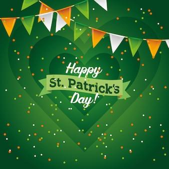 Cartão de dia feliz saint patricks