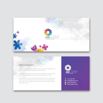 Cartão de elogio do clean creative