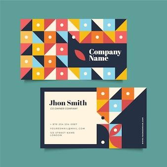 Cartão de empresa abstrata criativa