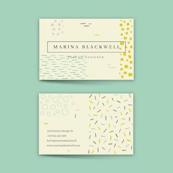 Cartão de empresa de pintados à mão