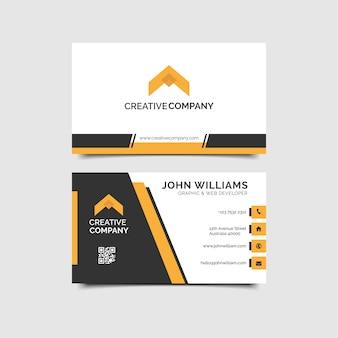 Cartão de empresa elegante alaranjado
