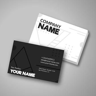 Cartão de empresa em preto e branco