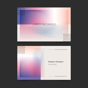 Cartão de empresa gradiente pastel