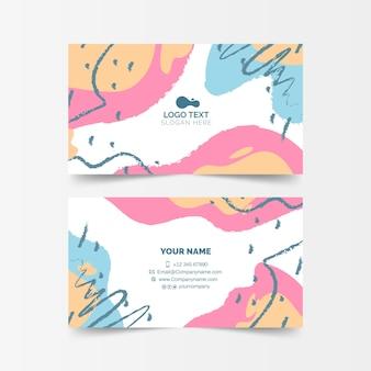 Cartão de empresa pintado abstrato