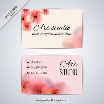 Cartão de estúdio de arte floral