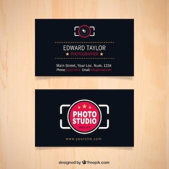 Cartão de estúdio de fotografia escura