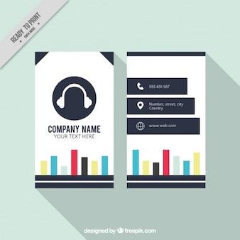 Cartão de estúdio de música