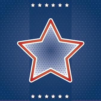 Cartão de eua com estrela