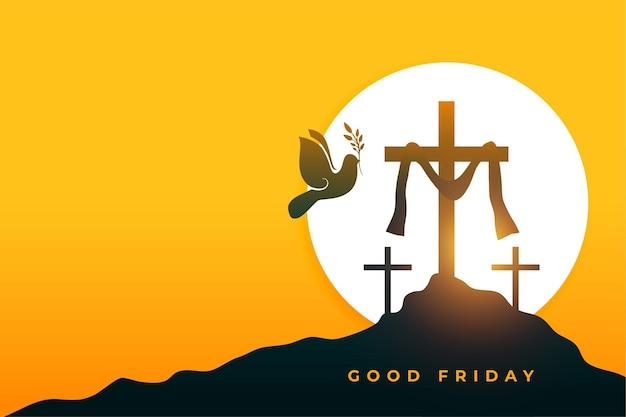 Cartão de felicitações da semana santa da paz sexta-feira