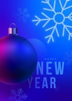 Cartão de felicitações de ano novo