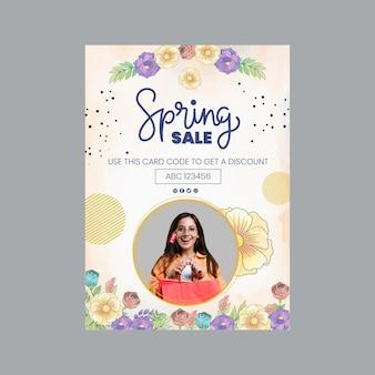 Cartão de felicitações de aquarela primavera a6