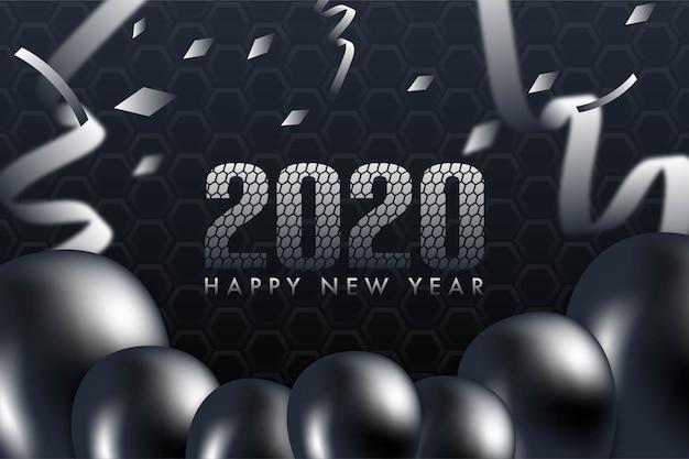 Cartão de felicitações de feliz ano novo 2020