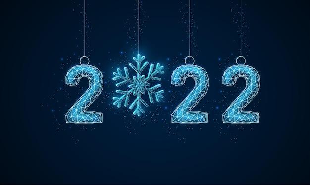 Cartão de felicitações de feliz ano novo azul abstrato Vetor Premium