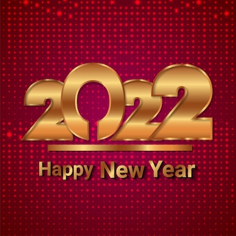 Cartão de felicitações de feliz ano novo