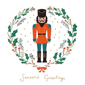 Cartão de felicitações de feliz natal e feliz ano novo