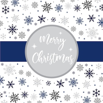 Cartão de felicitações de natal com fundo de flocos de neve de decoração