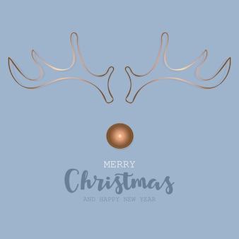 Cartão de felicitações de vetor de natal e ano novo com