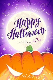 Cartão de felicitações do vetor feliz dia das bruxas.