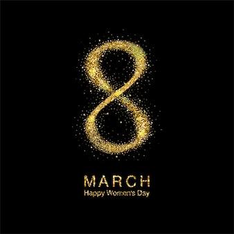 Cartão de felicitações em março, dia da mulher