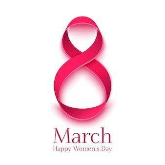 Cartão de felicitações. modelo de plano de fundo para o dia internacional da mulher.
