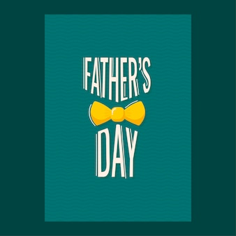 Cartão de felicitações ou design de modelo com texto e grito do dia dos pais