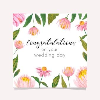 Cartão de felicitações para o dia do casamento