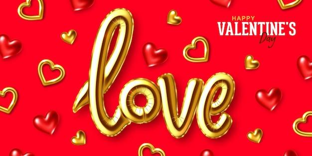 Cartão de felicitações para o feriado de são valentim