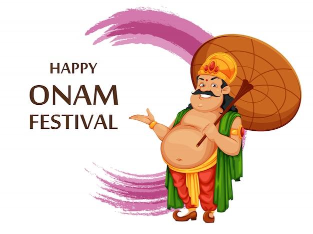 Cartão de felicitações para o festival happy onam em kerala