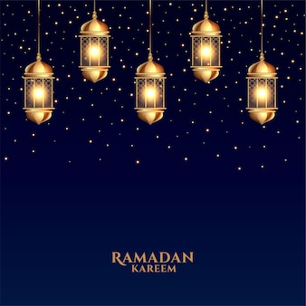 Cartão de felicitações realístico do ramadã kareem