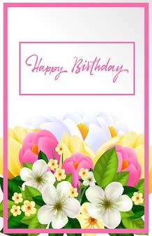 Cartão de feliz aniversario para mulher