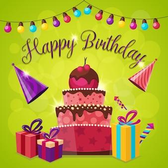 Cartão de feliz aniversário