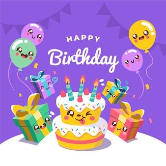 Cartão de feliz aniversario