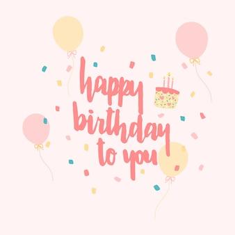 Cartão de feliz aniversário.