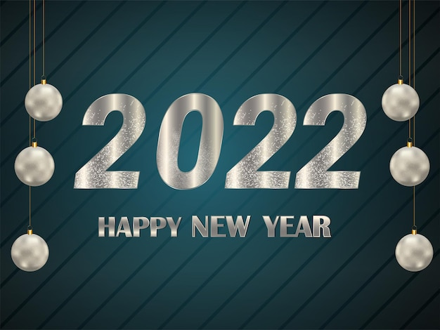 Cartão de feliz ano novo 2022