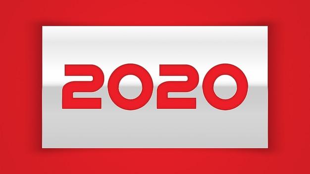 Cartão de feliz ano novo chinês 2020